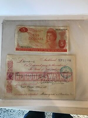 . NEW ZEALAND $Star Note Type I ND 1977 -81 Plus Ruddock And Walker Order