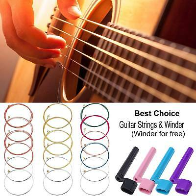 Classic Acoustic Folk Guitar Strings Standard Wires w/Guitar String Winder Free