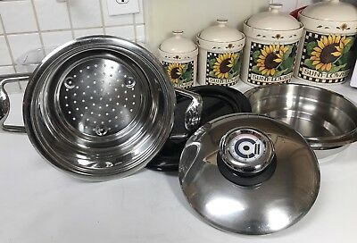 4 Pc Set Professional PLATINUM Stainless Steel Cookware Strainer, Thermostat +
