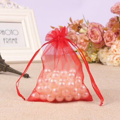 100 50 Red Large Organza Gift Bags Wedding Party XMAS Favour Candy Gift Pouches