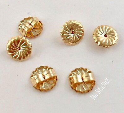 10x large premium Round Swirl Earring Backing 14k Gold filled nutz Clutch E31g