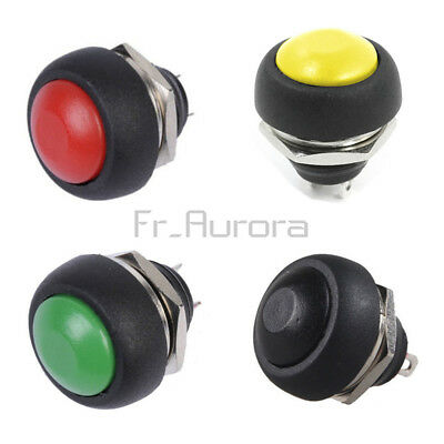 4PCS 12mm Waterproof Momentary ON/OFF Push Button Mini Round Switch