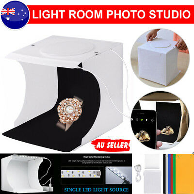 Light Room Photo Studio Photography USB LED Lighting Tent 6 Backdrop Cube Box
