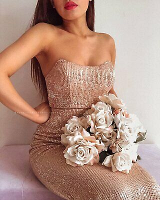 Is This Love Sequin Maxi Dress - Rose Gold