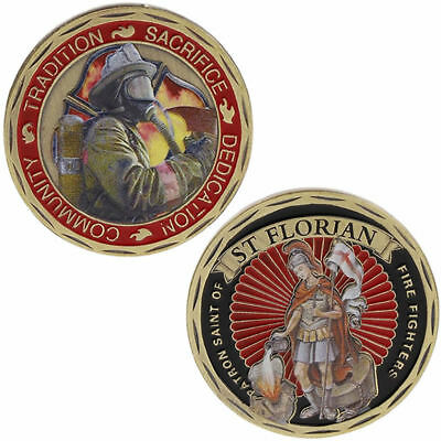 Commemorative Coin America Fire Control Protection ST Florian Art Craft Souvenir