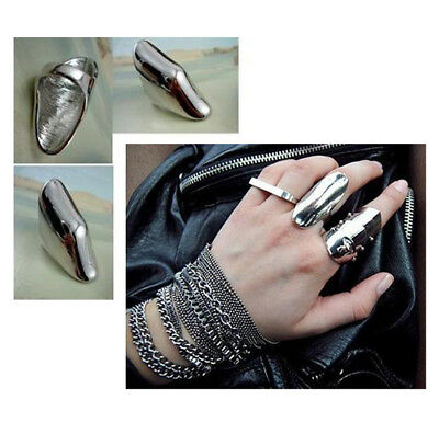 Vintage Steampuck Bent Knuckle Retro Armour  Antique Ring Fashion Jewelry Gift