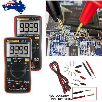 Handheld Electrical LCD Digital Clamp Multimeter RMS DC/AC OHM Multi Tester AU!