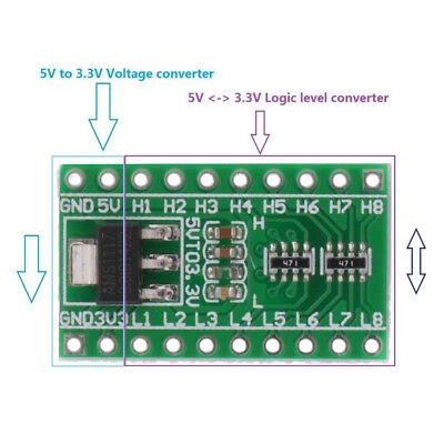 BASE RESISTOR TTL Logic Level Converter Module AMS1117 DC 5V to 3 3V