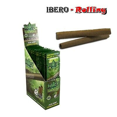 Papel liar cañamo natural Juicy 110mm, 10 bolsas de 2 blunts sin sabor