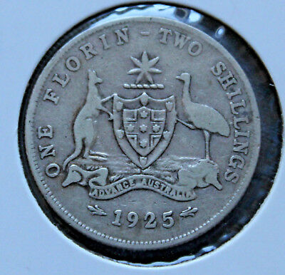 1925  ** AUSTRALIAN FLORIN ** - KGV Circulated Coin  - GREAT  INVESTMENT