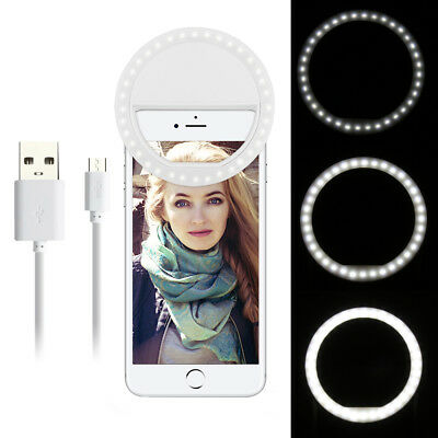 Portable Selfie Light 36 LED Ring Flash Light Clip Camera Picture Photo Studio
