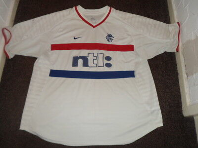 Billy Dodds Glasgow Rangers Football Top - Size XXL - Signed