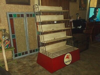 Mobil OIL DISPLAY STAND, OR OLD OIL CAN DISPLAY,OLD TOYS,