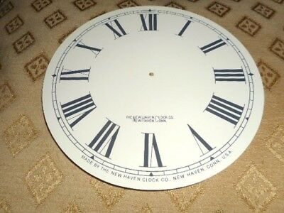 "For American Clocks-Round New Haven Paper Clock Dial-6"" M/T- Roman-Parts/Spares*"