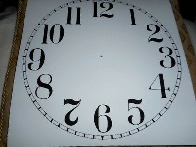 "Large Paper Clock Dial - 12"" M/T- Arabic - Matt White -Face/ Clock Parts/Spares"