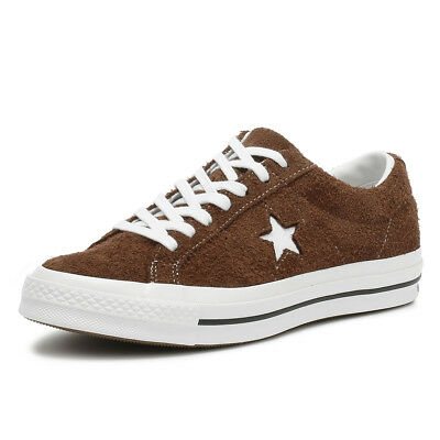 1f465c138d6c Converse One Star Ox Mens Trainers Chocolate Brown Suede Casual Skate Shoes