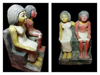 Ancient Egyptian statue of Royal Acquaintance Katep and his wife BC