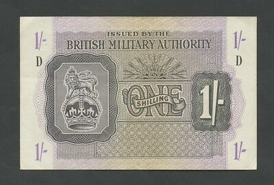 BRITISH MILITARY AUTHORITY  1s  WWII  Krause M2  Very Fine  Banknotes