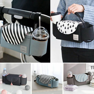 Baby Organiser Mummy Bag Storage Buggy Stroller Pram Pushchair Cup Bottle Holder