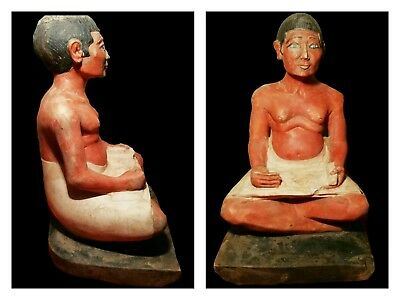 Ancient Egyptian statue of Royal  scribe writer BC xx large