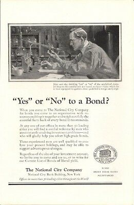 National City Company Bonds of Liberal Yield Vintage Ad 1922