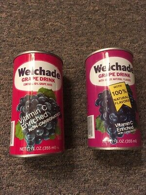 Vintage Welchade Grape Drink Steel Can Lot