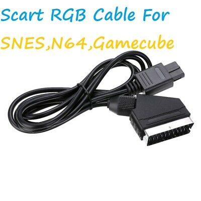 1.8M Real RGB For SNES NGC 1.8M Scart TV AV HD Lead AV PVC Lead Cable Game N64