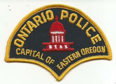 Ontario OREGON OR Police patch OLD Capitol of Eastern
