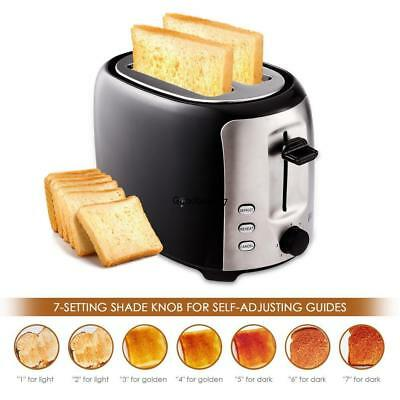 New Home Stainless Steel 7 Speed Adjustable 2 Slice Bread Toaster GDY7