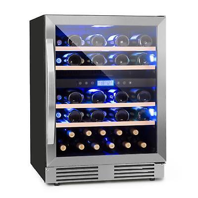 Wine Cooler Refrigerator 2 cooling Zone Drinks Chiller 43 bottles 129 l LCD