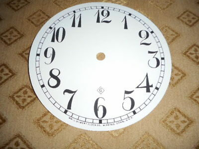 For American Clocks-Gilbert Paper Clock Dial-125mm M/T-Arabic-Clock parts/Spares