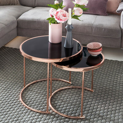 Design two-piece set side table living room table coffee table glass copper