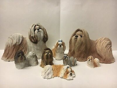 Shih Tzu Statues Sandy Cast,Living Stone and Stone Critters