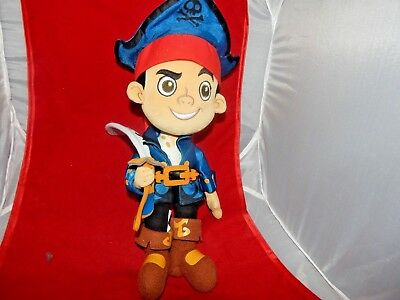 "Disney Store Captain Jake Plush Jake and the Neverland Pirates 12"" Toy"
