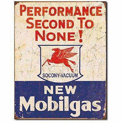 Mobil Gas Gasoline Service Garage Performance Vintage Style Retro Metal Tin Sign