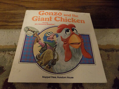 Vtg Fun MUPPETS Gonzo and the Giant Chicken Softcover storybook story book 1982