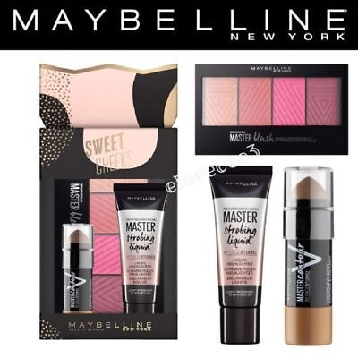 Maybelline Sweet Cheeks Make-up Gift Set, 3-Piece brand new