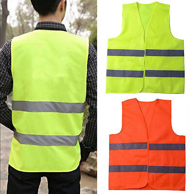 Safety Reflective Vest Security Visibility Construction Traffic/Warehouse 1Pcs