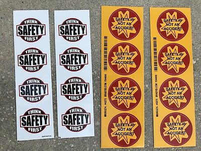16 pk Hard Hat Helmet Stickers including Brady Safety is not an accident
