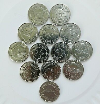 Lot of 13 Norwegian Cruise Line NCL Gaming Gambling Token Coin Casino Set