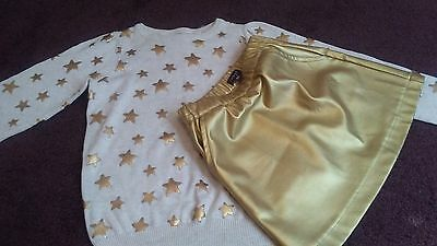 New!! Girls cream and gold sweater size 4-6