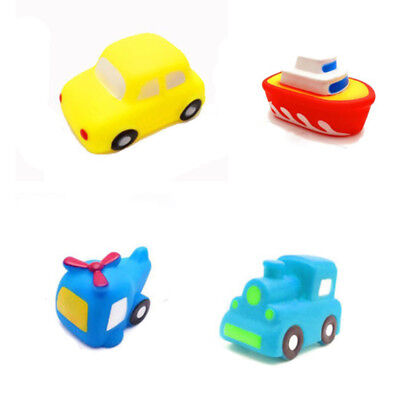 Children Bath Toy Cartoon Simulation Boat Car Shower Water Squeeze Sound Toy LH