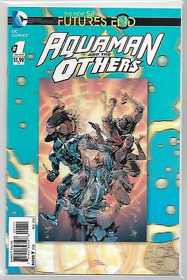 ~ WOW ~ AQUAMAN AND THE OTHERS: FUTURES END  #1 NM/M 2014 LENTICULAR ~the new 52