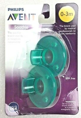 Phillips Avent BPA Free 0-3 Months Soothie Pacifier, 2 Pack