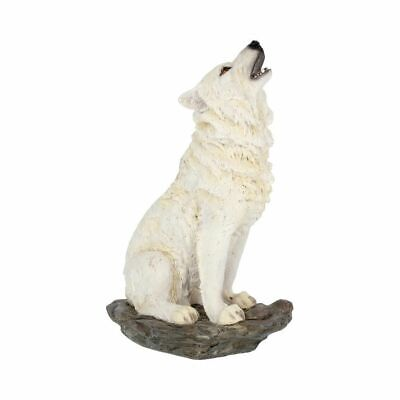 Storms Cry Howling Snow White Ghost Wolf Nemesis Figurine Ornament Gift Decor