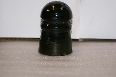 Dark Olive Green Diamond Glass Insulator 3 1/2in Tall