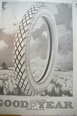Vintage 2 page ad Goodyear Tires 1918