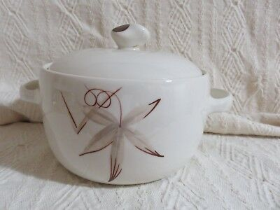 Vintage WInfield California China Passion Flower Small Covered Casserole W/ Lid