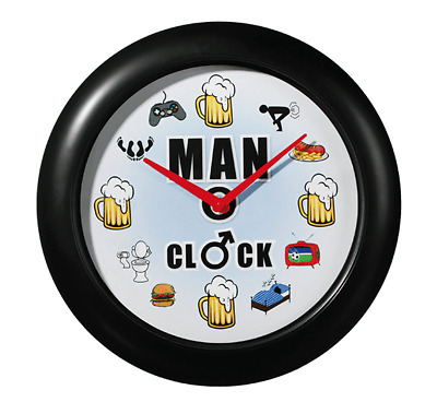 The Man Clock~Emits a manly sound every hour~Wall Mounted~Ideal for Man Cave
