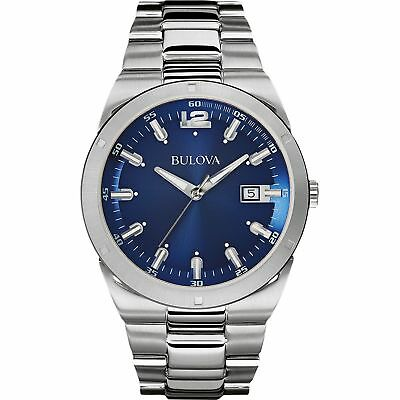 Bulova 96B220 Men's Blue Dial Classic Wristwatch